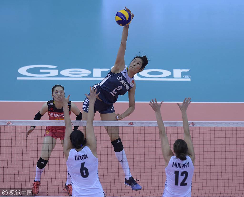 世联赛中国女排1