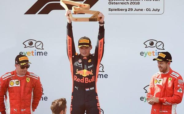 F1奥地利站梅奔全军覆没 维斯塔潘畅饮香槟