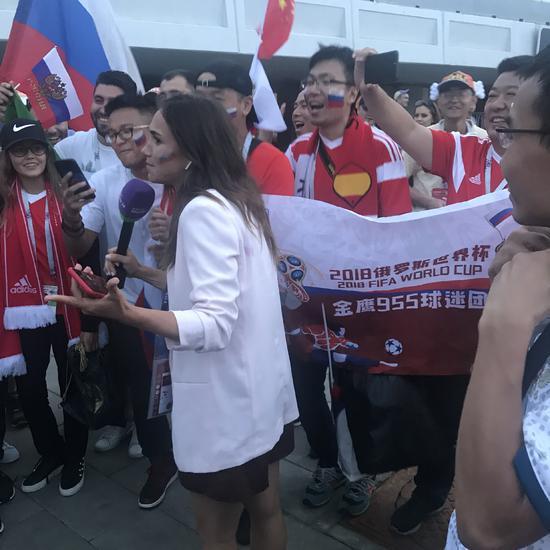 俄罗斯挺进8强中国球迷高潮:赛前就买了俄罗斯!