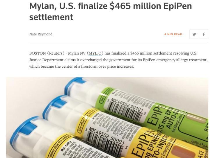 特朗普刚宣布医改 就被美国制药厂涨价打脸