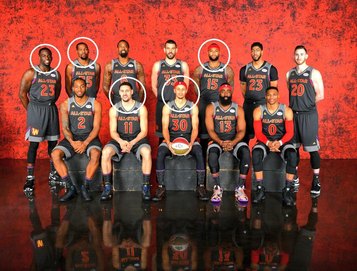 NBA历史上第一支5巨头诞生 这是勇士?这是梦之队!