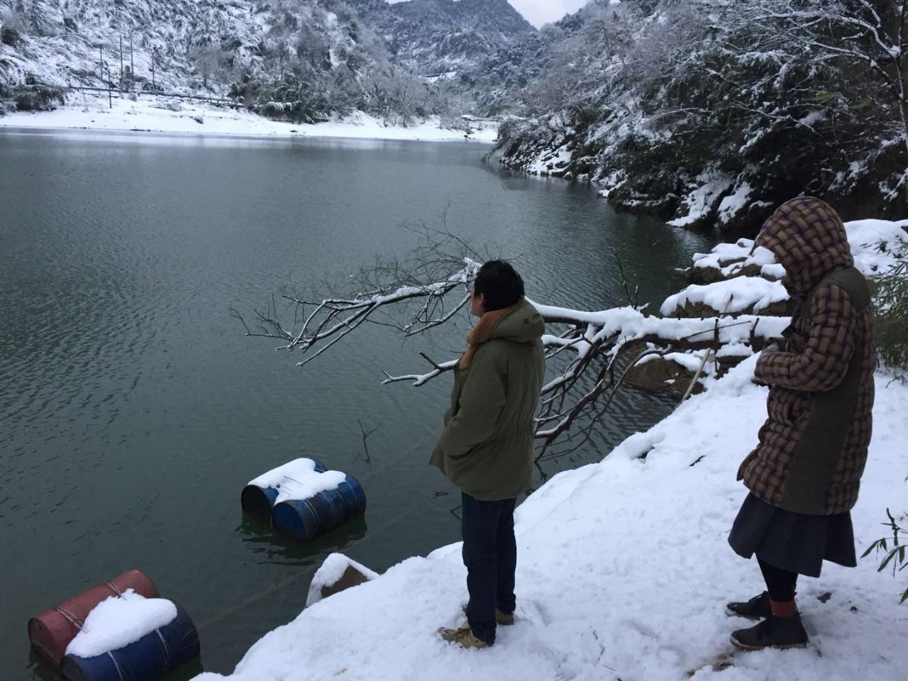 冬天村里的水库(作者供图)
