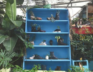 神改造!垃圾堆改出花园书店 书籍随便看永不关门