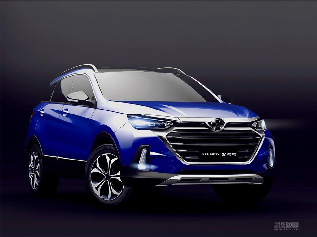配AI技术 北京汽车新一代X55下半年上市
