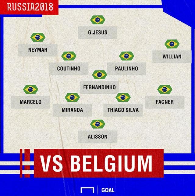 世界杯-巴西首发名单提前公布!马塞洛复出淘汰比利时?