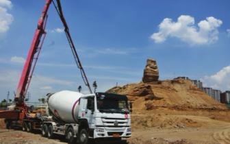 云州街北魏建筑遗址环境整治工程正在加紧施工
