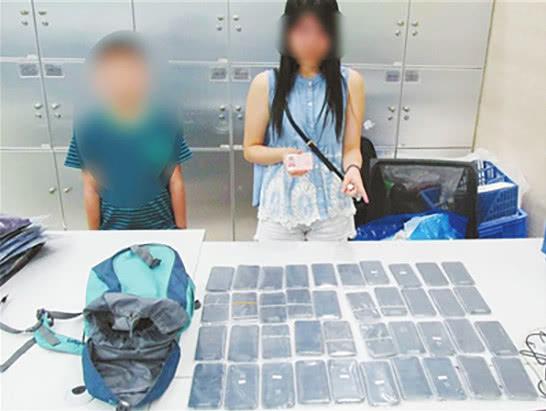 一名香港男童携带及绑藏40部苹果手机入境被查获