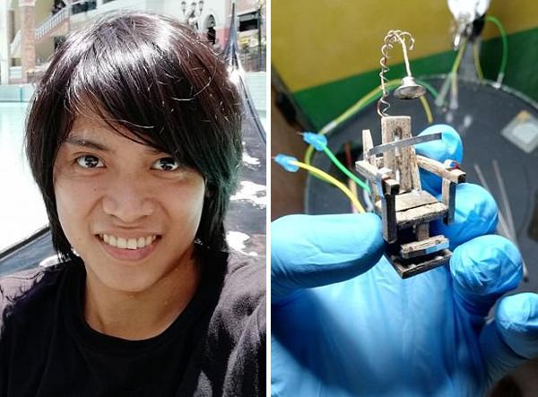 菲律宾男子自制电椅处死蟑螂 被批虐待动物