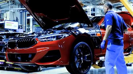 实拍宝马8系造车工厂