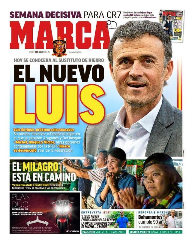 马卡头条:恩里克将出任西班牙国家队主帅