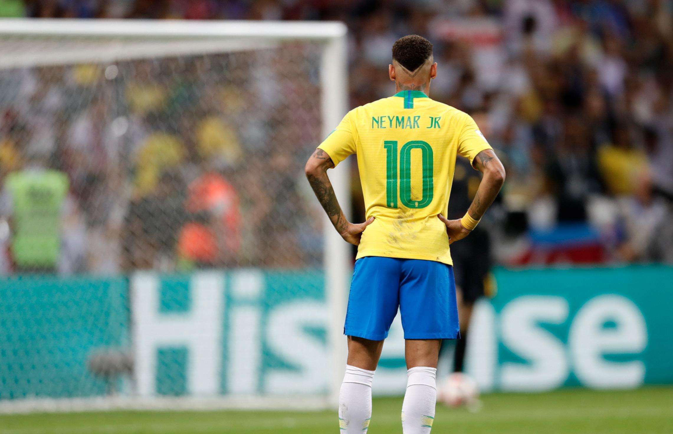 内马尔率领的巴西,1-2不敌比利时无缘4强