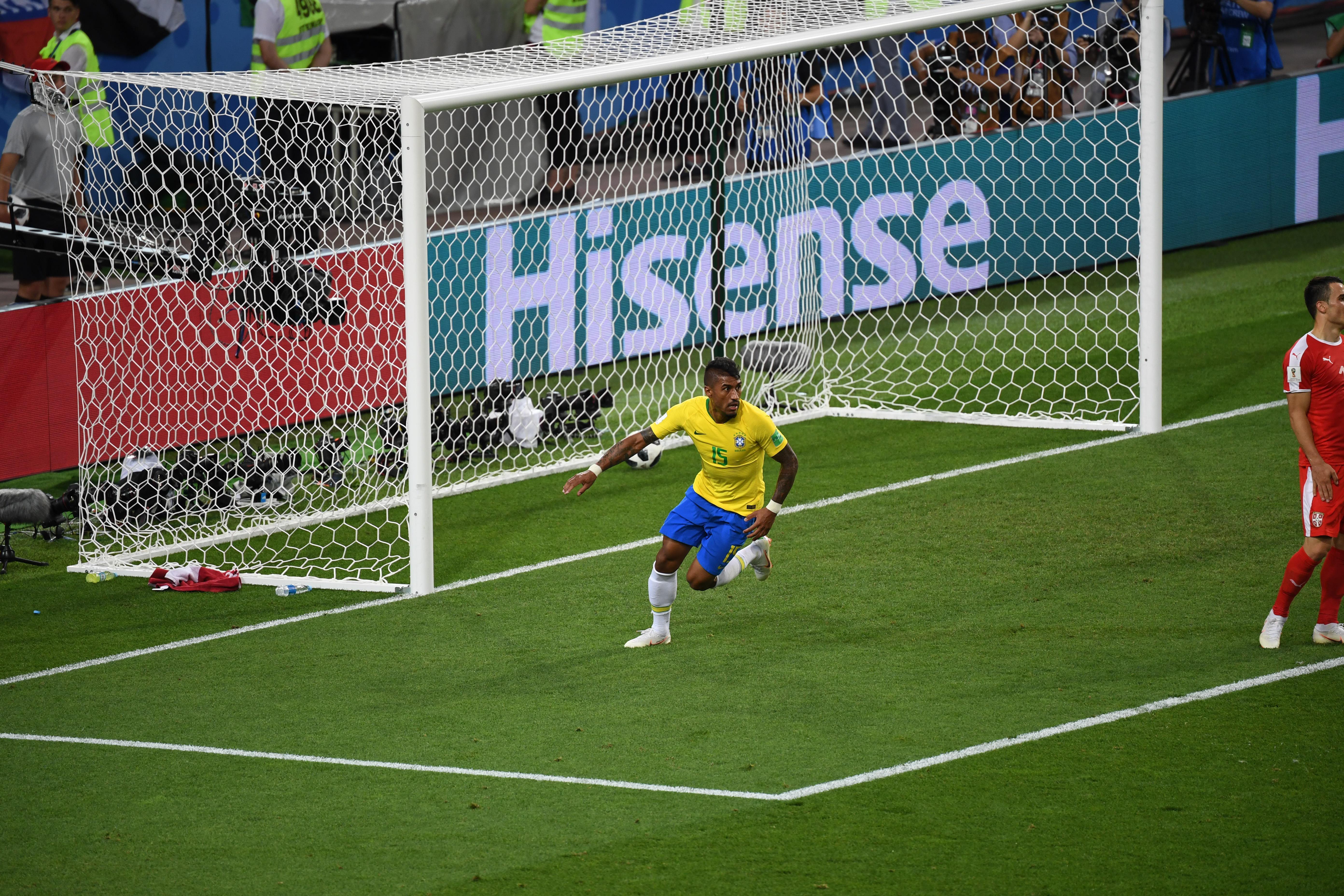 保利尼奥在今夏世界杯上斩获进球