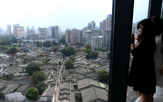 鸟瞰福州三坊七巷 蔚为壮观!