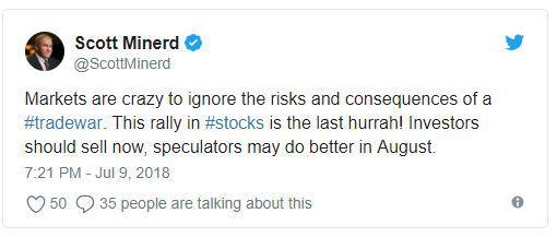 无视风险继续飙涨 华尔街大佬警告美股太疯狂了