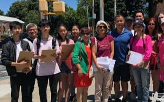 美华人刘醇逸拟参选纽约州州参议员 携义工收集签名