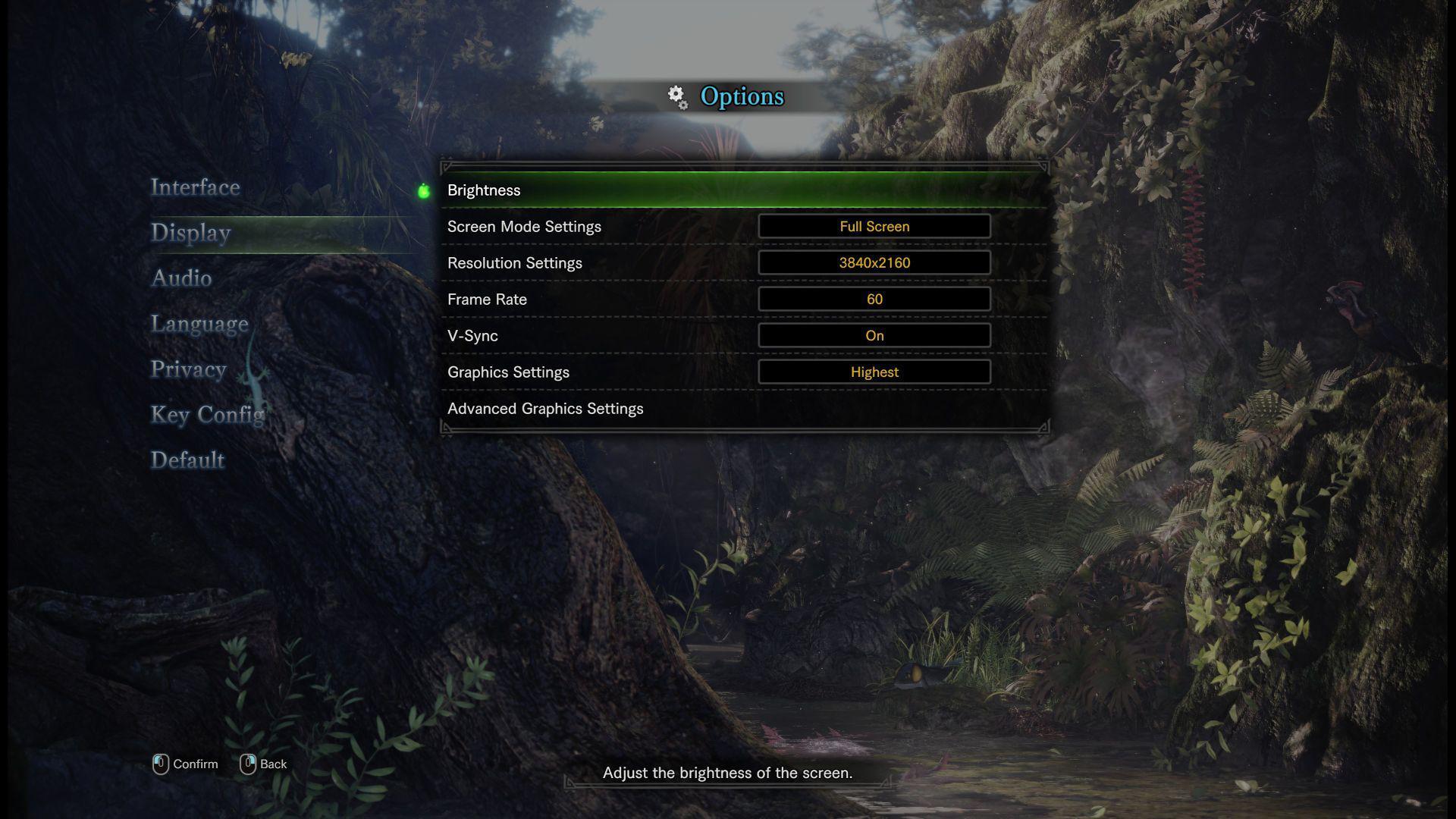 《怪物猎人:世界》PC版4K/60帧确认 画面选项丰富