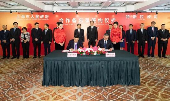 特斯拉超级工厂落户上海 规划年产50万辆电动整车