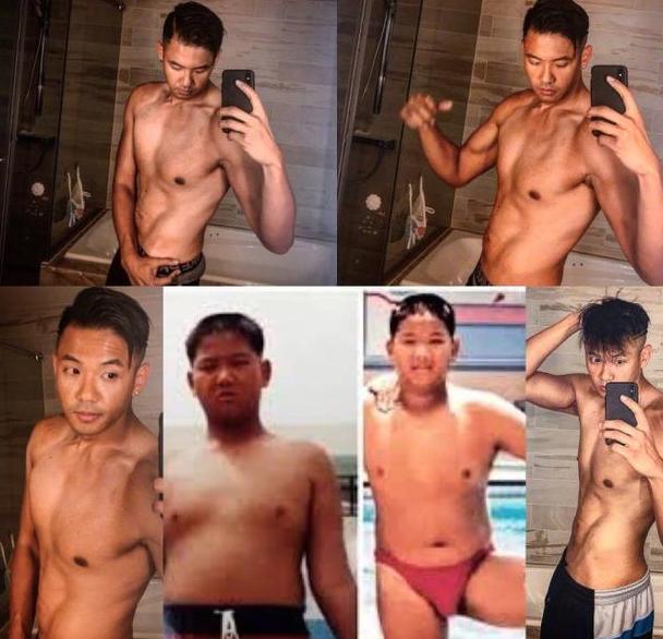 超励志!陈建州晒今昔对比照分享减肥经历