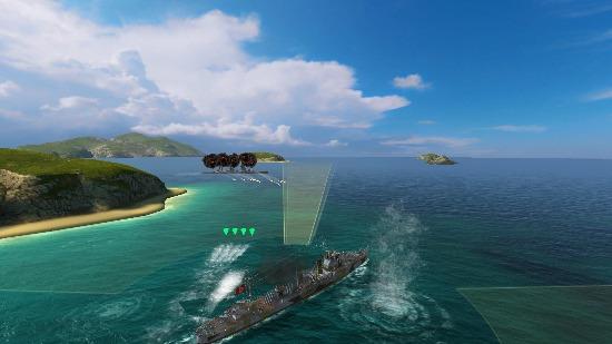 激烈对抗 驱逐舰鱼雷显神威
