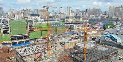 哈站南广场地下交通枢纽一期工程7月底封顶