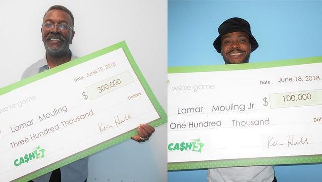 父亲买彩票顺手帮儿子选号 两人同时中得大奖共40万!