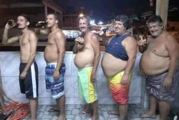 20岁到60岁男人身材的演变