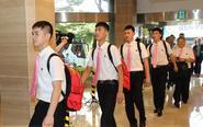 朝鲜乒乓球代表团抵达韩国