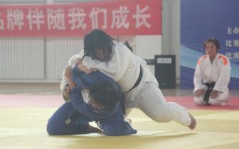 省运会女子柔道赛场传喜讯 石家庄队获团体