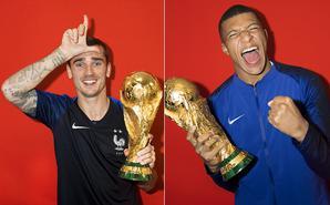 法国队夺冠写真:格子秀招牌动作