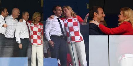 普京观战世界杯决赛 法克两国总统拥抱致意