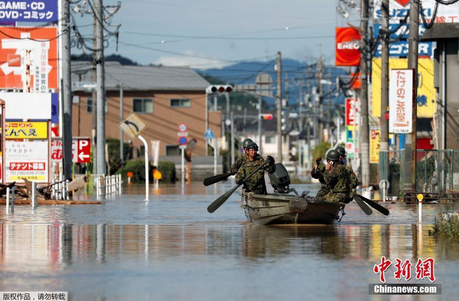 日本暴雨致死人数升至217人 遇难者大多为高龄老人