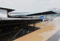 重庆主城菜市场被淹没
