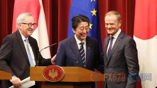 """日本和欧盟签署""""里程碑式协议"""" 几乎免除所有关税"""