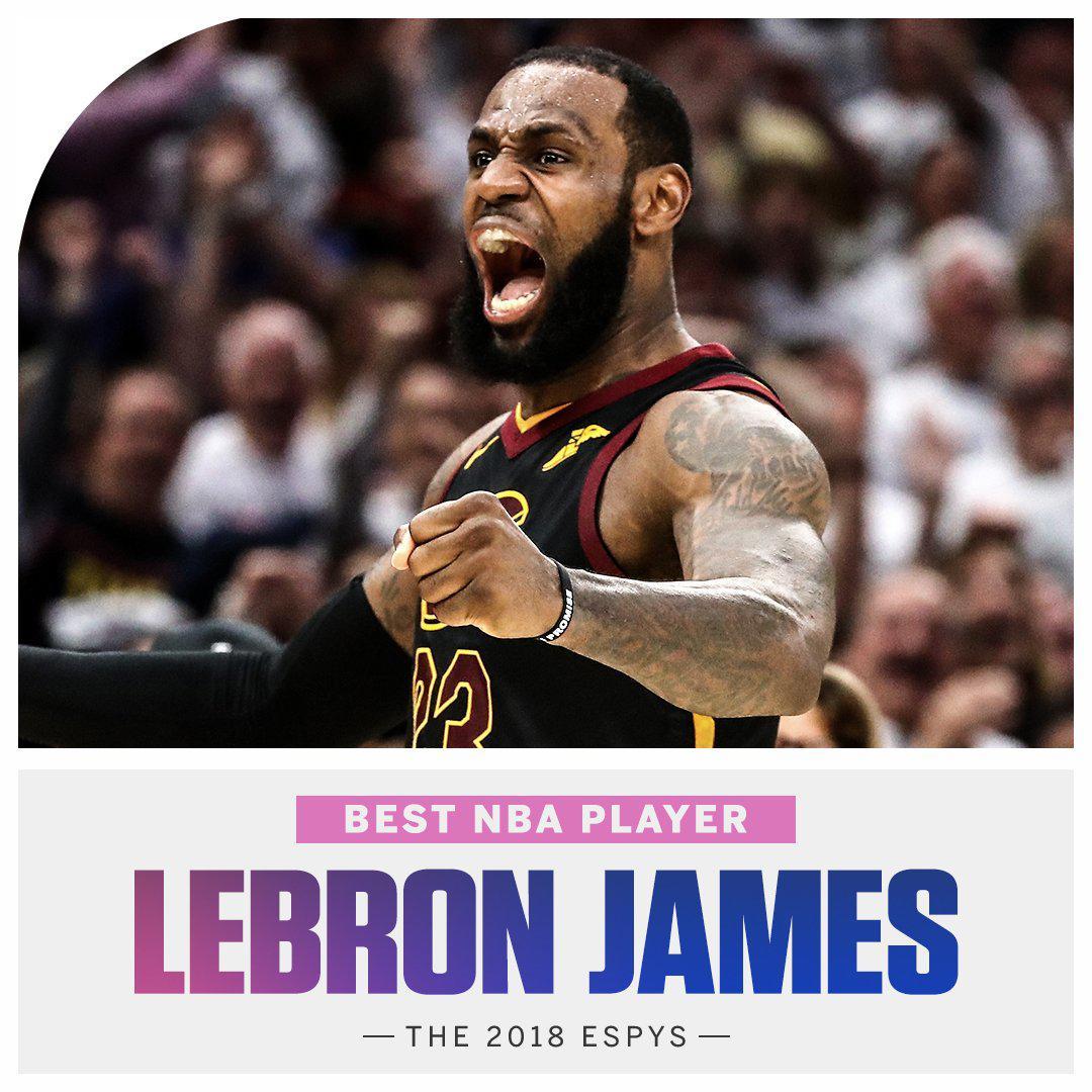 LBJ第7次获ESPY最佳NBA球员奖 米切尔最具突破奖