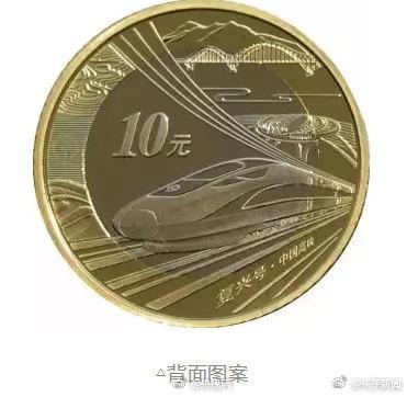 中国10元高铁币来了:发行数量为2亿 每人限购20枚