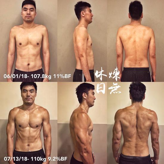 网曝李晓旭近照:肌肉如斧劈刀削 升级为魔鬼筋肉人