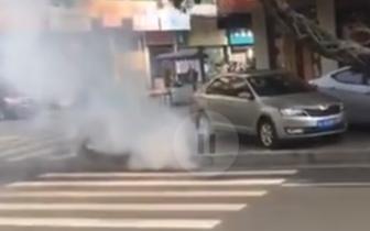 乐山城区一地下电缆突然起火爆炸 处置及时周边用电正常