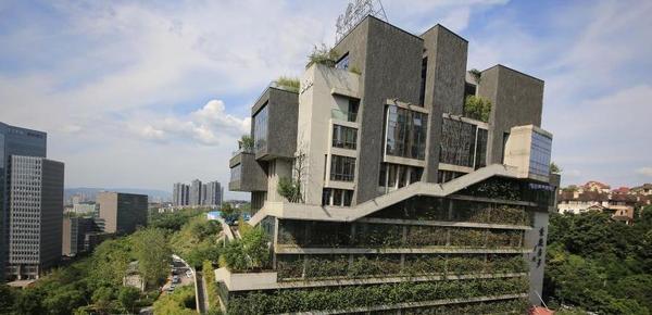 """重庆一高楼穿上""""植被"""" 犹如空中花园"""