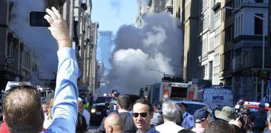 纽约发生蒸汽管道爆炸 烟雾遮天蔽日