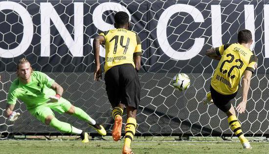 国际冠军杯-范迪克头槌妖星2球 多特3-1逆转利物浦