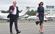 特朗普夫妇度假后返回白宫