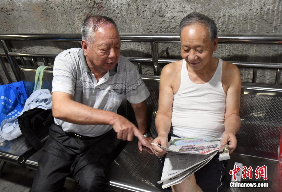 福州避暑防空洞成为市民纳凉好去处