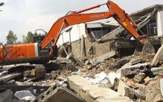 七星区拆除和平万达项目范围内违建1100多平米