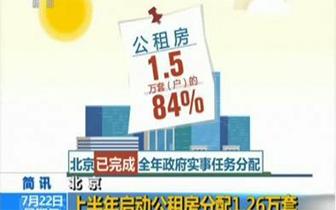 上半年北京启动分配公租房一万两千六百套