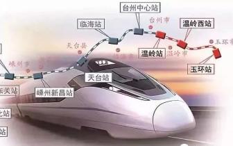 最新消息丨杭绍台高铁设温岭、温岭西两个站点,2021年底建好
