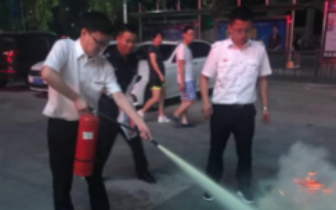 中信银行青山湖支行开展 消防知识培训及防暴安全演练