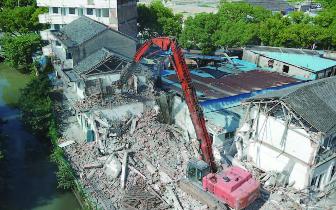 东官河综合整治工程(城区段)开始房屋拆除