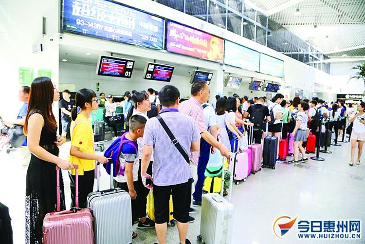 惠州-杭州航线7月23日至8月31日期间加密至每周12班