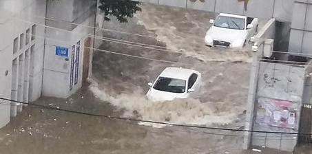 """这个夏季暴雨有点多 多地开启汽车""""游泳""""模式"""