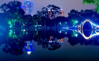 """西湖公园将使用蓝绿色夜景灯光 打造""""水墨夜西湖"""""""